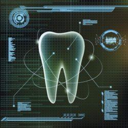Human tooth. Futuristic infographic design manassas smiles va