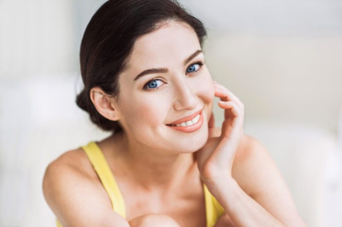 Close-up portrait of beautiful woman overcome dental anxiety sedation dentist manassas va