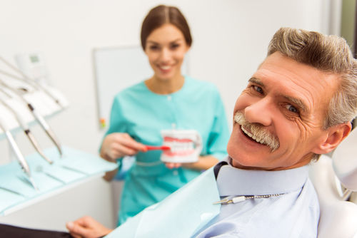 Manassas dental office | Patient with dentist